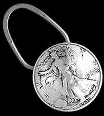 Be-Decked's  Walking Liberty Silver Half Dollar Key Ring
